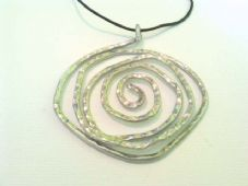 Large spiral pendant necklace